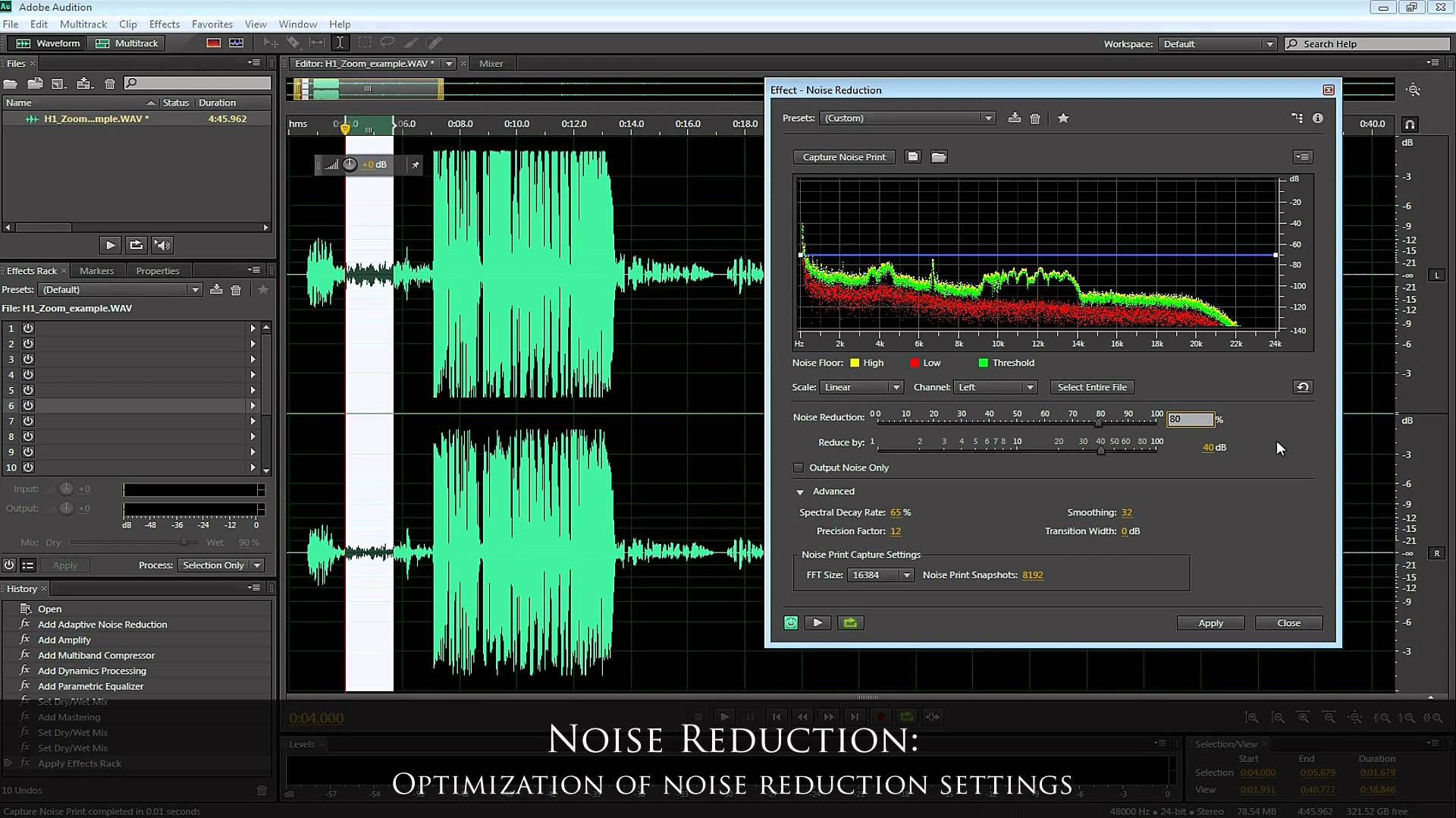 Voice-over Audio in Adobe Audition CS6 (Zoom H1 Recorder)
